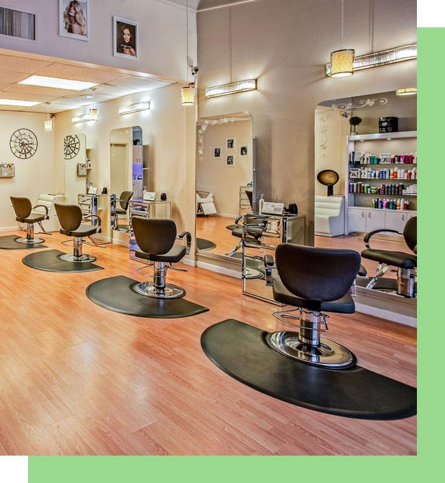 Interior View Modern Bright Beauty Salon