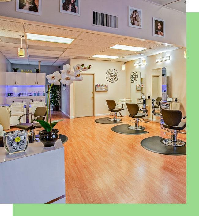 Interior View at Hair Salon